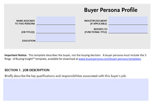 BPI buyer persona template