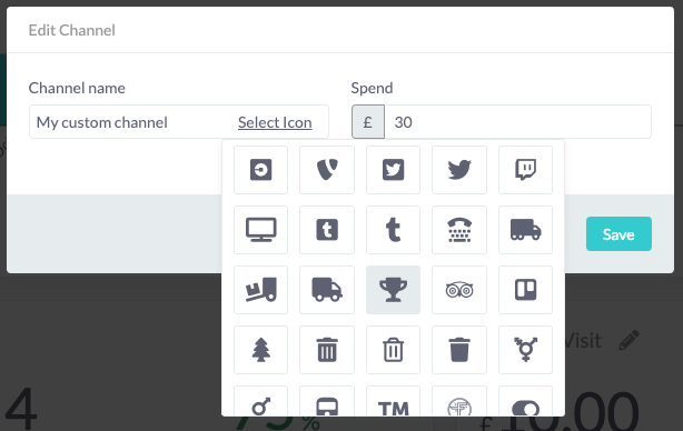 Customise your channels with out icon picker