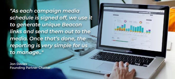 Testimonial from Jon Davies of Chatter for Beacon marketing analytics platform