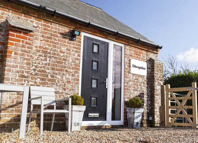 The Recognition Creative is a converted piggery on a farm in Lymington, Hampshire – a very beautiful part of the world!