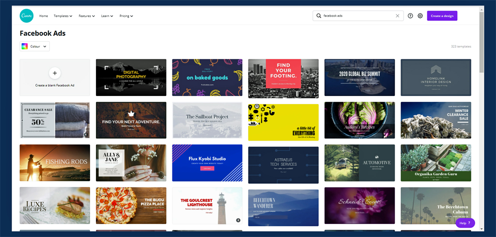 Canva templates to use for converting Facebook ads
